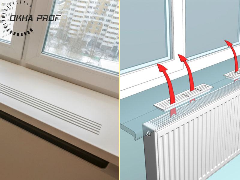 Фото радиаторных решеток для подоконника.