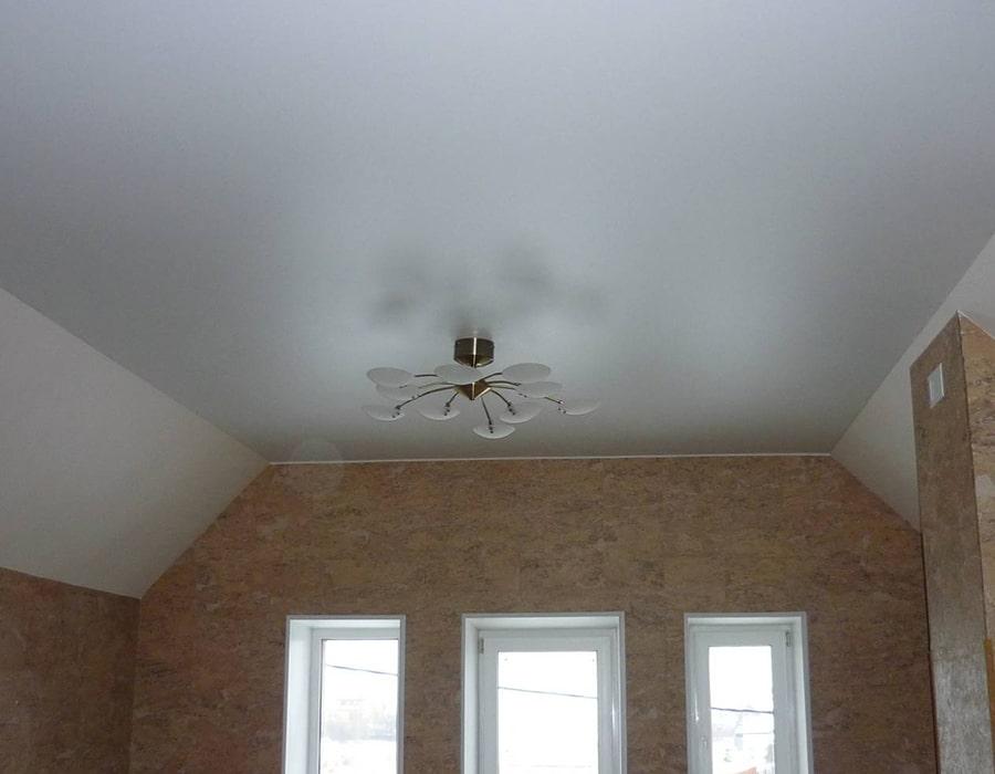 фото натяжной потолок сатин окна проф Донецк 004