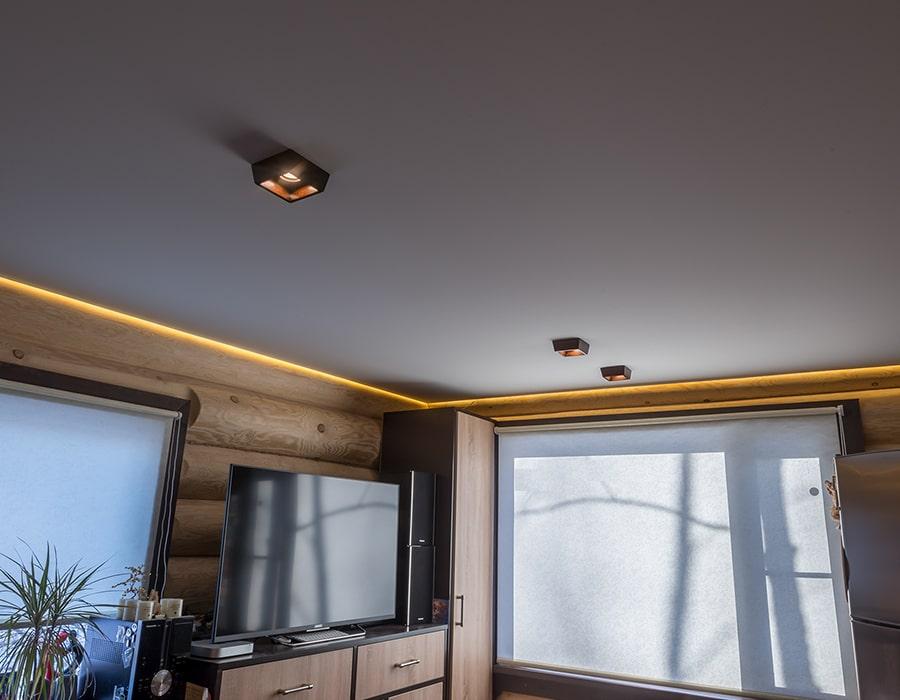 фото натяжной потолок сатин окна проф Донецк 006