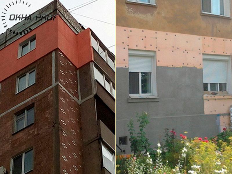 Фото наших работ по утеплению фасадов