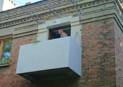 фото обшивка балкона последний этаж ОкнаПроф Донецк 002