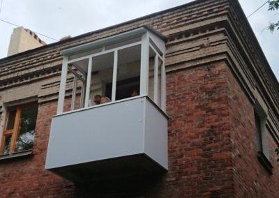 фото обшивка балкона последний этаж ОкнаПроф Донецк 004nesk-okna-prof-004