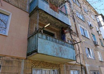 фото старый балкон до нашего ремонта ул Отважных дом 17 Донецк