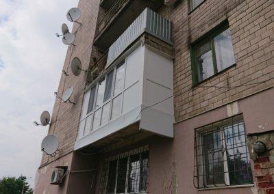 фото большой французский балкон Окна Проф Донецк 003