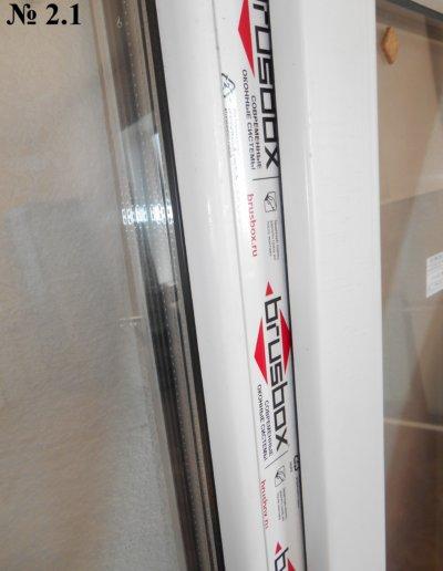 фото пластиковое окно б у BrusBox 70 с круглым штапиком