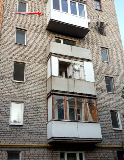 фото классический французский балкон Донецк