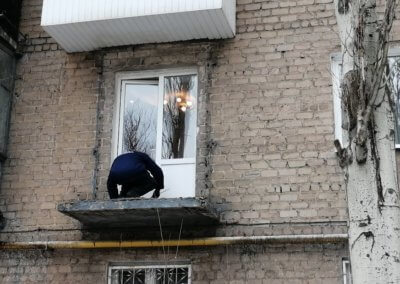 фото демонтаж балкона в Донецке на улице Артемаma
