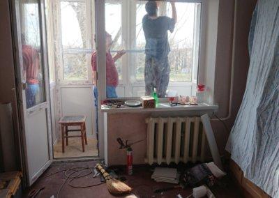 фото балконный блок и французский балкон Brus Box изнутри