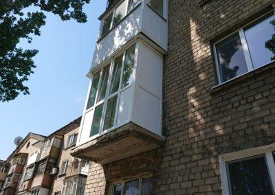 фото французский балкон профиль рехау ул Кирова город Донецк