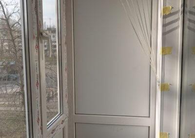 фото внутренняя отделка французского балкона из профиля BrusBox в Донецке ОкнаПроф