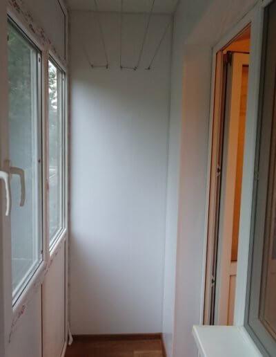 фото французский балкон отделка потолок стены полы сушилка вид внутри Окна Prof