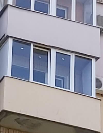 фото балкон вид с улицы Донецк ул Щетинина 25 работа Окна Проф