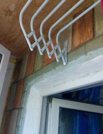 картинка французский балкон сушилка Донецк ул Волгодонская 7Г Окна Проф 002
