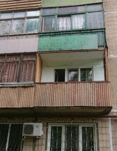 фото балкон Донецк Волгодонская до работы фирмы ОкнаПроф
