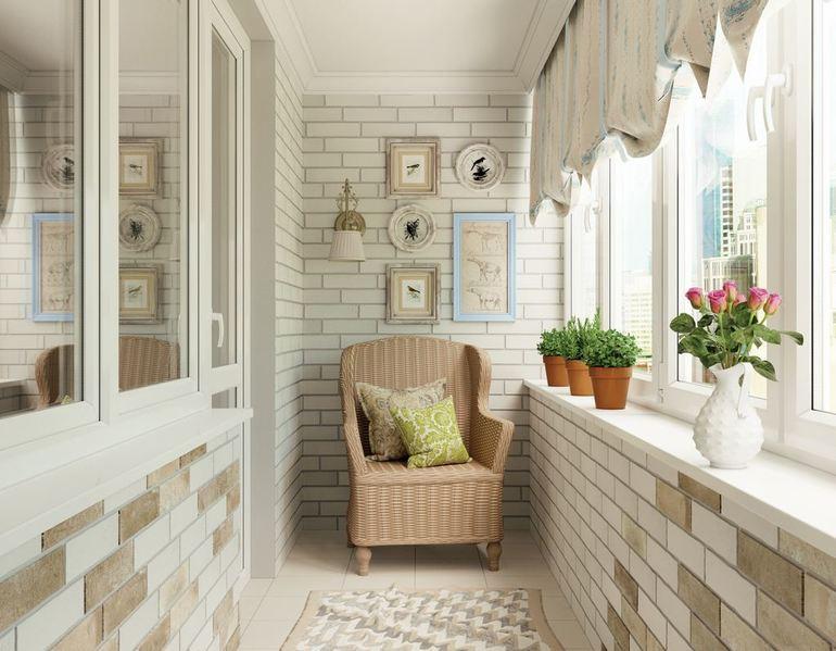 Особенности кладки декоративного кирпича на балконе