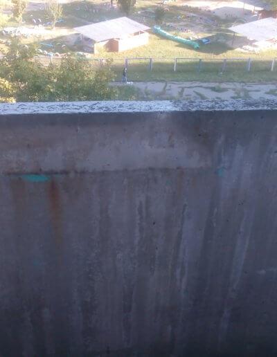фото балкон плита до усиления центр Донецк ул Щетинина 25 работа Окна Проф