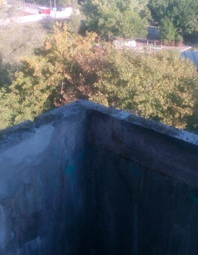 фото балкон плита до усиления левая сторона угол Донецк ул Щетинина 25 работа Окна Проф