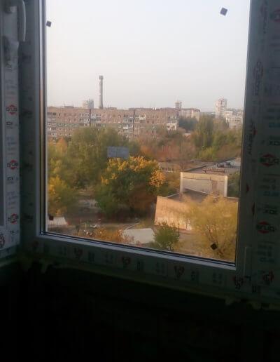 фото балкон остекления левая сторона угол Донецк ул Щетинина 25 работа Окна Проф