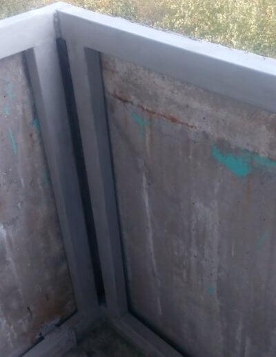фото балкон плита после усиления левая сторона угол Донецк ул Щетинина 25 работа Окна Проф