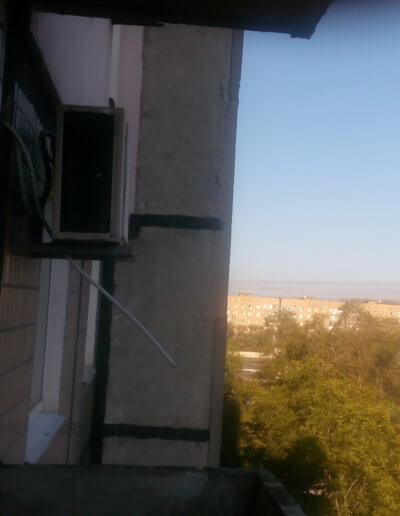 фото балкон плита до усиления левая сторона верх Донецк ул Щетинина 25 работа Окна Проф