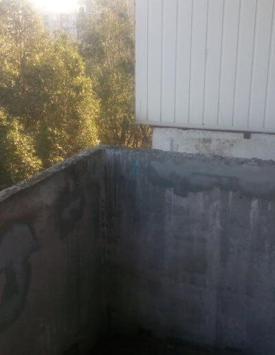 фото балкон плита до усиления правая сторона Донецк ул Щетинина 25 работа Окна Проф