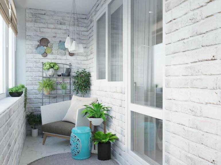 Как правильно покрасить кирпичную стену на лоджии или балконе