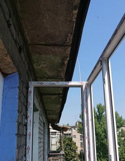 фото установка французского балкона Донецк ул Газеты Комсомолец Донбасса компанией Окна Проф