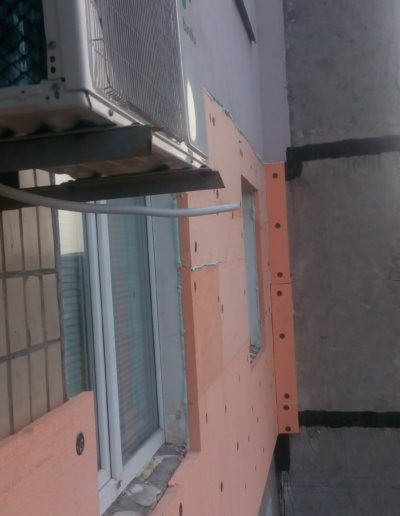 фото утепление стен пенополистиролом 1 этап Донецк ул Щетинина 25 работа Окна Проф