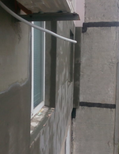 фото утепление стен пенополистиролом 2 этап Донецк ул Щетинина 25 работа Окна Проф