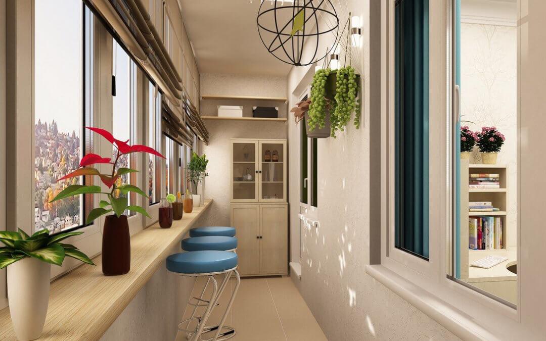 Дизайн балкона: интересные идеи интерьера