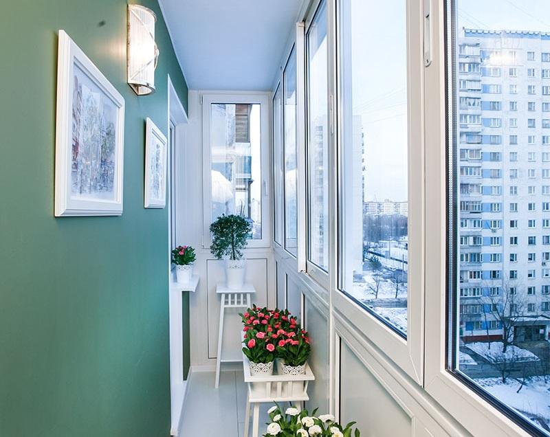 картинка вариант покраски балкона