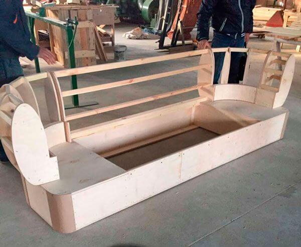 картинка каркас балконного дивана