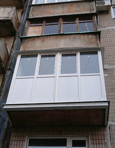 фото французский балкон брюсбокс ул шуйского 10 Донецк Окна Проф -004