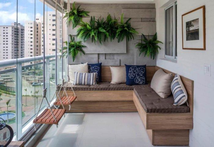 картинка угловой диван на балкон