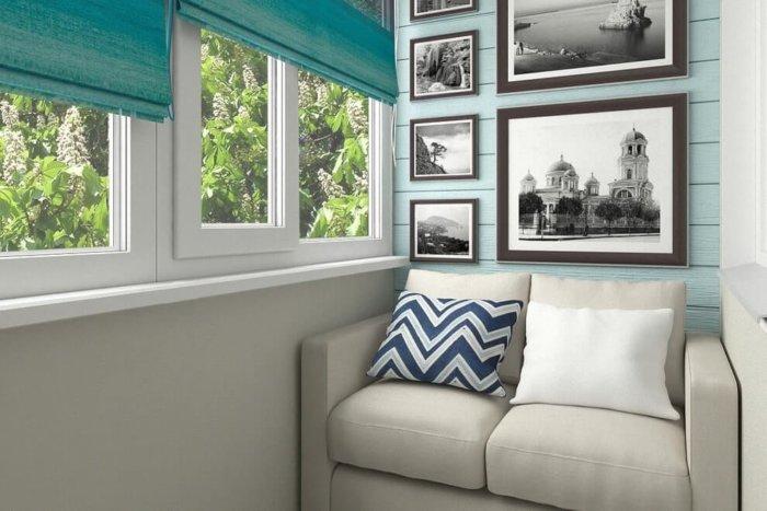 картинка диван на балкон