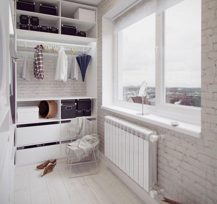 картинка гардеробная на балконе