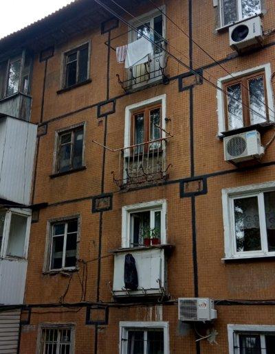 фото балкон до установки плиты с нуля Окна Prof Донецк