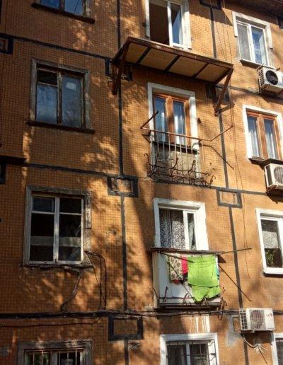 фото балкон после установки плиты с нуля Окна Prof Донецк