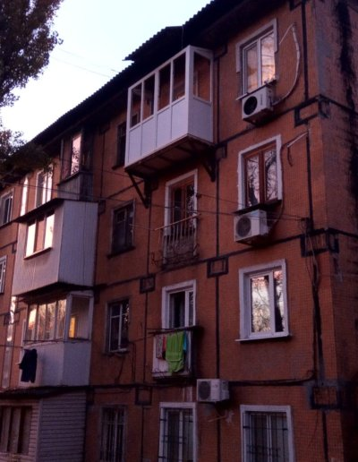 фото французский балкон с нуля Окна Prof Донецк 001