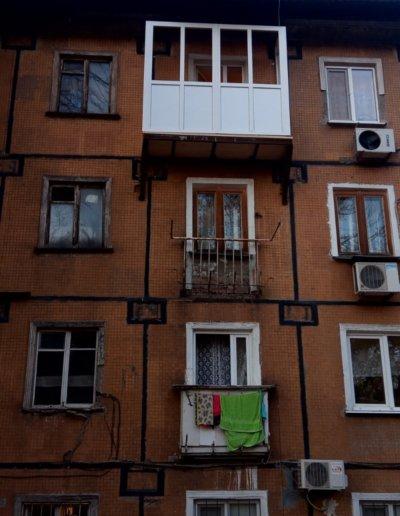 картинка французский балкон с нуля Окна Prof Донецк 002