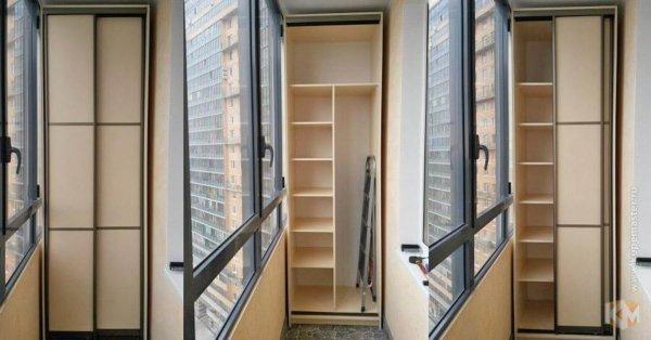 картинка шкаф-купе на балконе