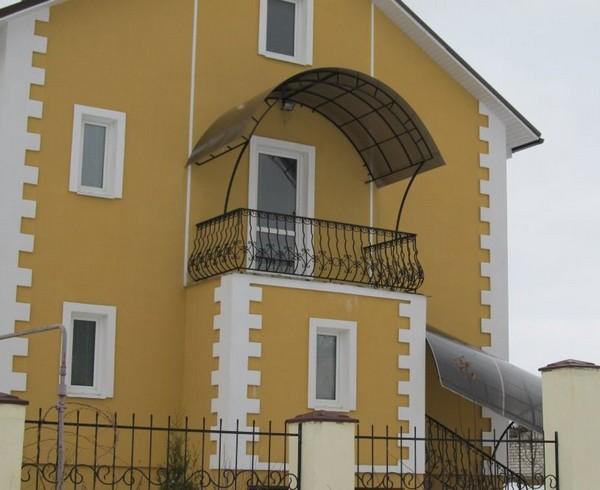 картинка арочный козырек на балкон