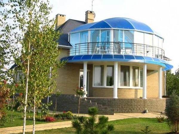 картинка купольный козырек над балконом