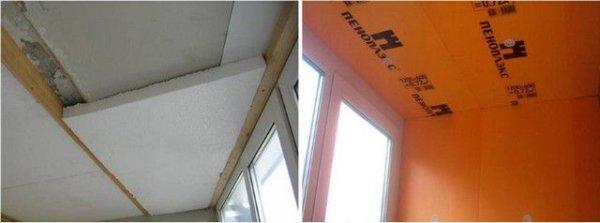 картинка утепление потолка пенопластом