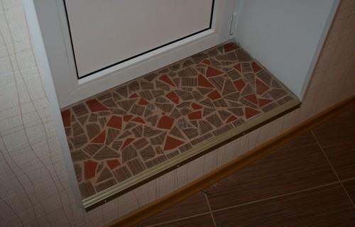 картинка порог на балкон из керамических плит