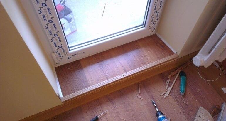 Порог на балкон – монтаж своими руками