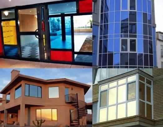 картинка тонирование стекол на балконе