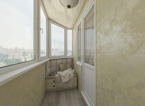 картинка отделка балкона штукатуркой