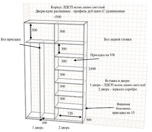 картинка проект шкафа
