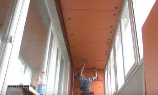 картинка монтаж пеноплекса на потолок